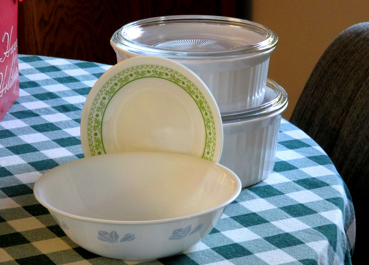 Corelle and Corning ware dishes