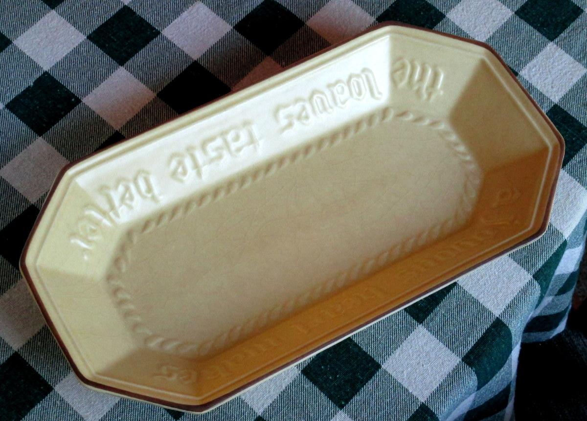 Pfaltzgraff bread tray Village pattern