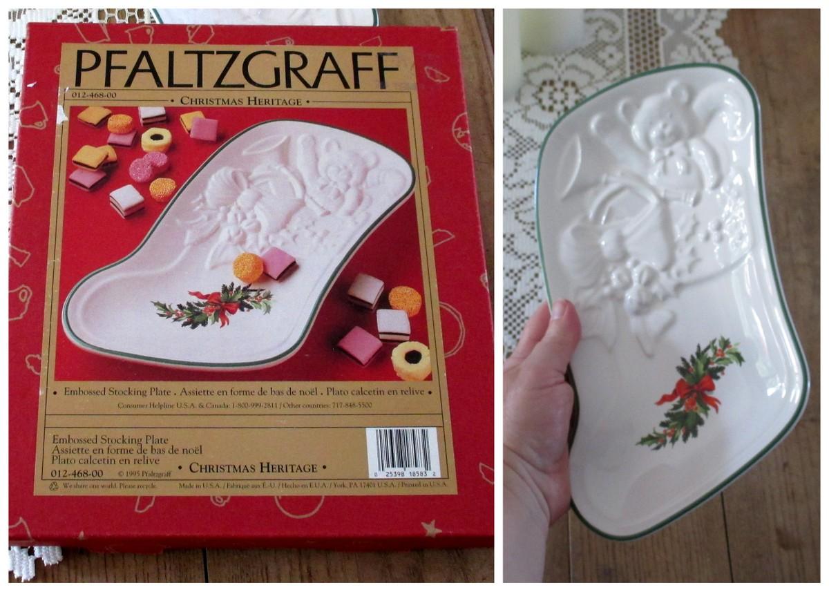 Christmas Heritage stocking plate