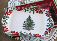 Christmas Tree dessert tray by Spode