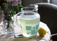 Vintage glassware pitcher for lemonade