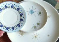 Vintage dinnerware retro style