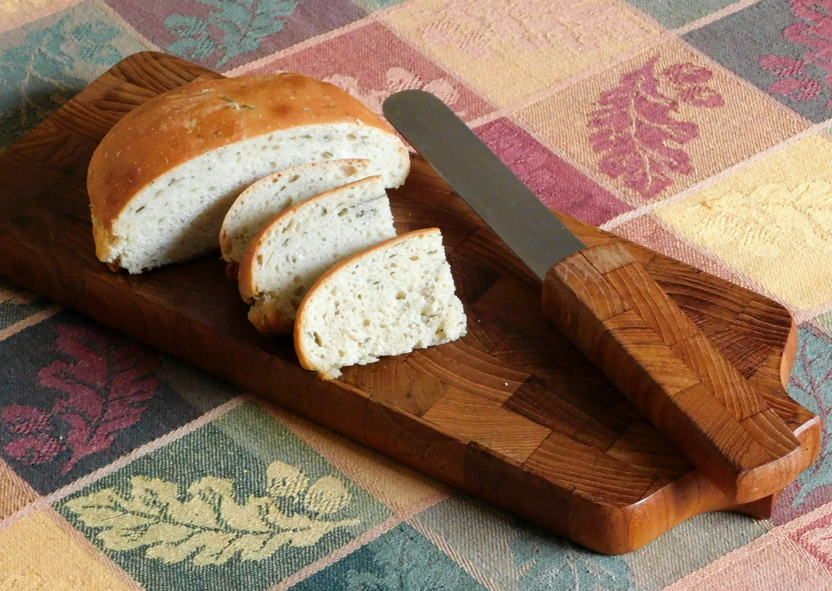 Wood bread board by Dansk