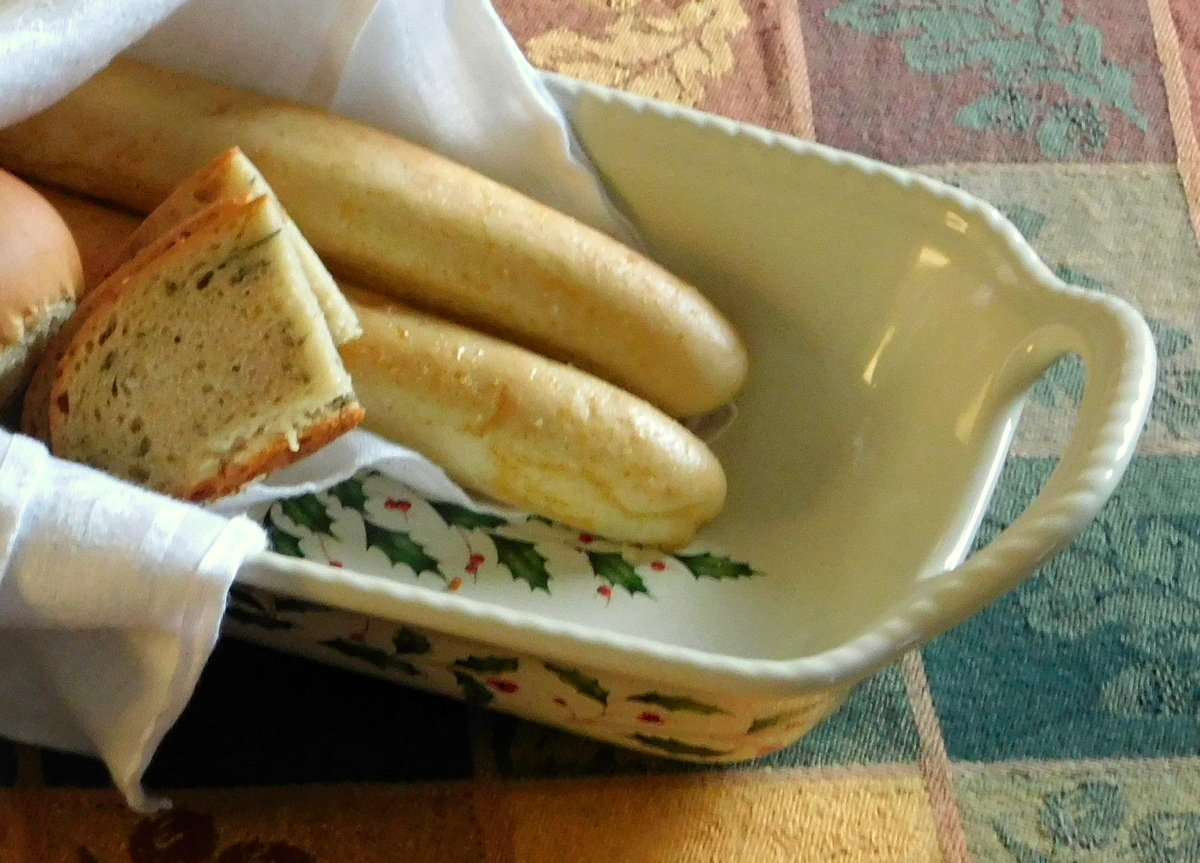 China bread basket in the Holiday pattern by Lenox